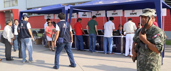 Fuerzas Armadas y Policía custodian locales de votación para Elecciones Municipales de mañana domingo