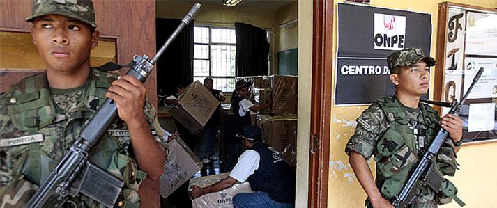 ONPE coordina la seguridad en Ayacucho para las elecciones municipales del 12 de marzo en Pucacolpa
