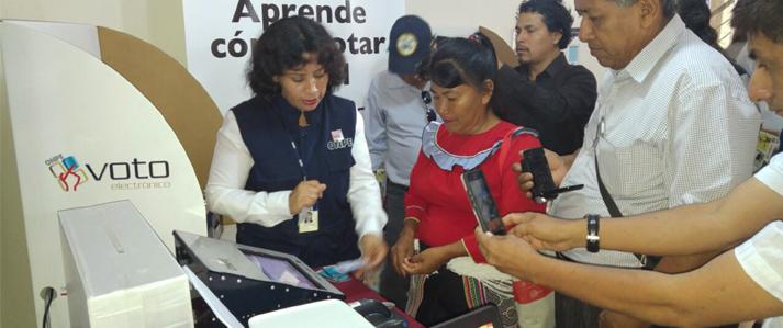 ONPE anuncia capacitación sobre voto electrónico para que nuevos distritos de Ucayali elijan autoridades