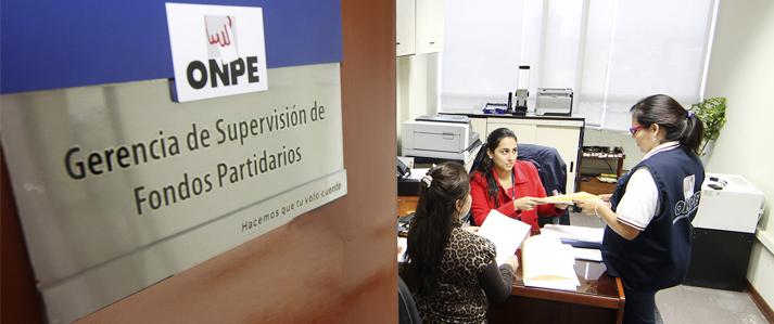 Organizaciones políticas tienen plazo hasta mañana viernes para presentar Información financiera semestral