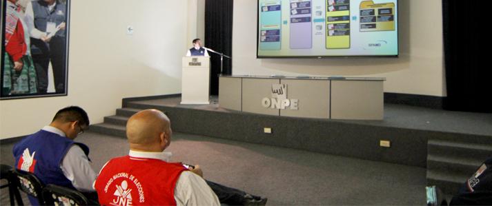 ONPE desarrolló simulacro oficial del Sistema de Cómputo Electoral