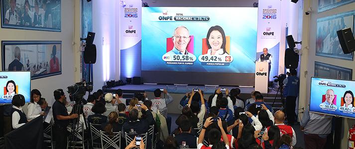 ONPE emite el primer avance de resultados oficiales de la Segunda Elección Presidencial
