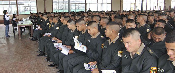ONPE brinda educación electoral a estudiantes de las Escuelas de la Policía Nacional del Perú