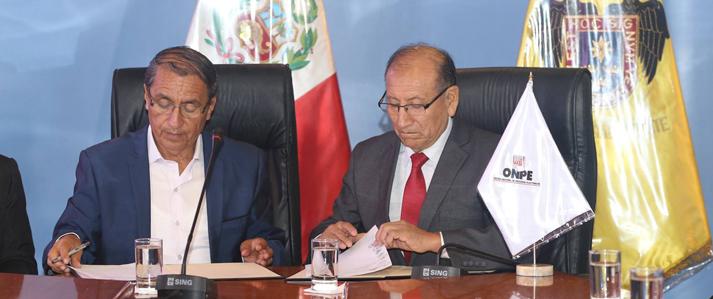 """ONPE invita a municipalidades distritales de Lima y Callao a sumarse a campaña """"Elige tu local de votación"""""""