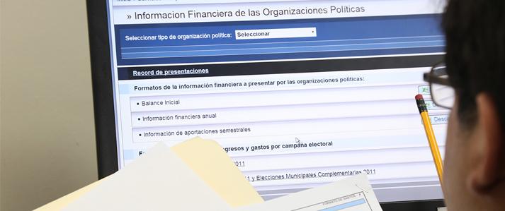 ONPE: Hoy vence el plazo para que organizaciones políticas presenten tercera información financiera de campaña