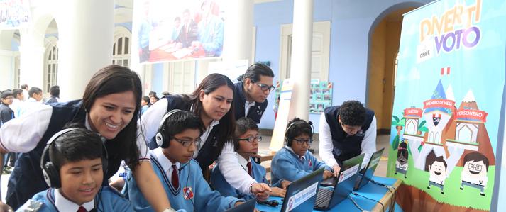 ONPE desarrolla aplicativo lúdico para capacitar alumnos en la elección de sus Municipios Escolares