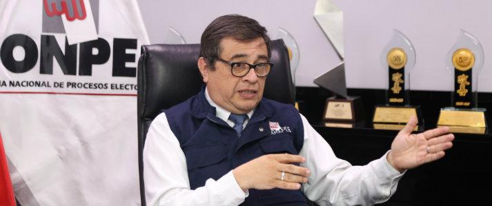 Jefe de la ONPE solicitó reprogramar su testimonio ante el Fiscal José Pérez