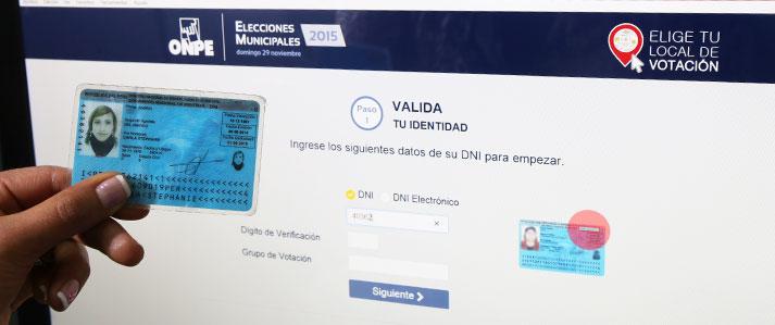 Electores de Mi Perú podrán escoger local de votación más cercano a su domicilio en elecciones municipales de noviembre