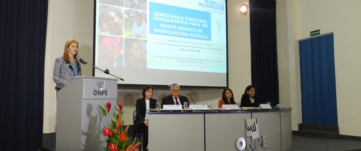 ONPE y ONU Mujeres coinciden en necesidad de ir más allá de la cuota de género