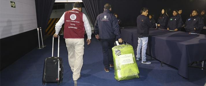 ONPE: Actas electorales del extranjero terminan de llegar esta noche