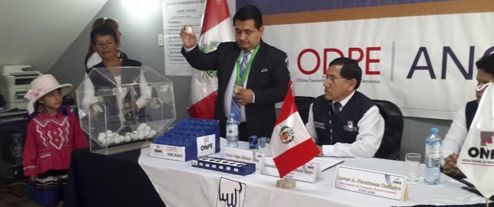 ONPE sorteó 396 miembros de mesa para la consulta popular de revocatoria en Áncash