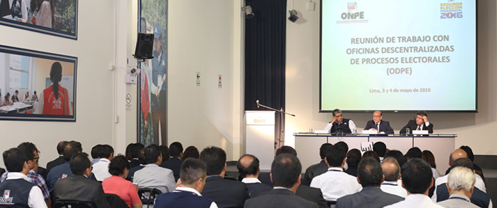 ONPE coordina con oficinas descentralizadas el desarrollo de la Segunda Elección Presidencial del 5 de junio