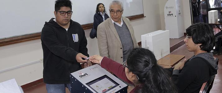 Resultados de las elecciones en la Universidad Nacional del Callao se obtuvieron en solo veinte minutos