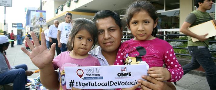 ONPE: Hoy vence el plazo para que electores de Lima Metropolitana y el Callao elijan su local de votación