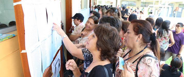ONPE facilita a electores la ubicación de sus mesas de sufragio en las Elecciones Generales 2016