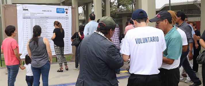 ONPE convoca a ciudadanos a participar como voluntarios en la Segunda Elección Presidencial 2016