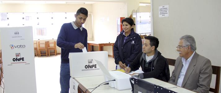 Elecciones estudiantiles en la Universidad del Callao se realizan este miércoles con aplicación del voto electrónico