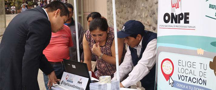 Unos dos millones de electores de Lima Metropolitana y Callao ya eligieron su local de votación