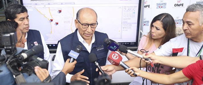 ONPE insta a tomar con prudencia encuestas a boca de urna y a esperar con calma los resultados oficiales