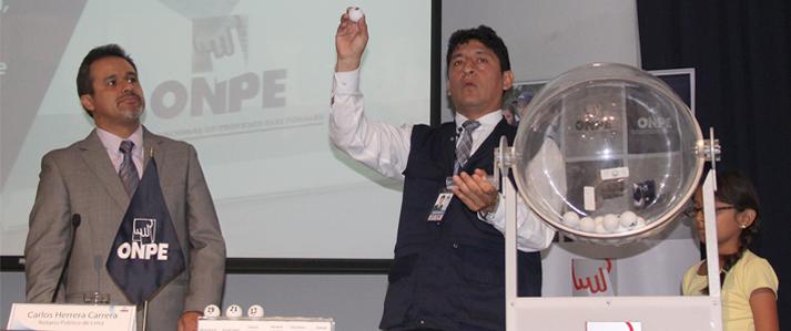 ONPE aprueba instrucciones para el sorteo de ubicación de organizaciones políticas en la cédula de sufragio