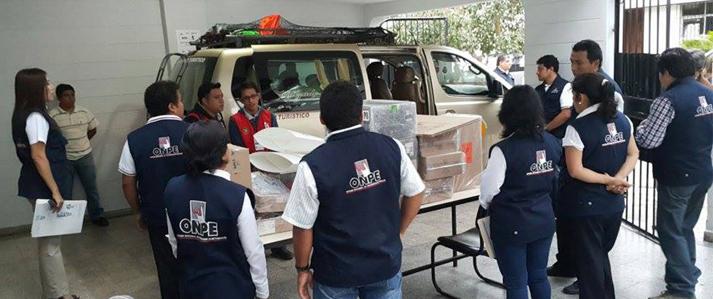 ONPE desplegó el material electoral para primera Consulta Vecinal de Demarcación Territorial