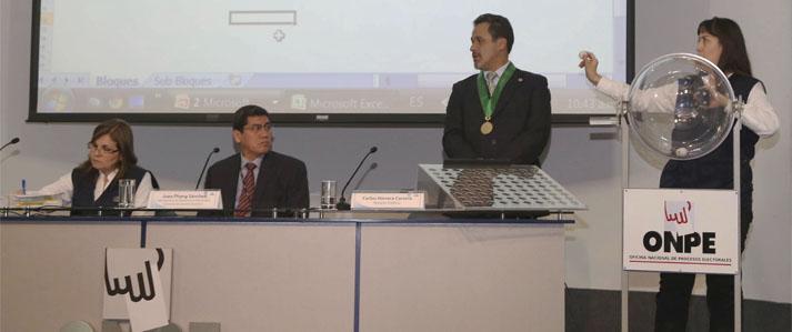 ONPE fijó ubicación de bloques de organizaciones políticas en las cédulas de sufragio para las Elecciones Municipales